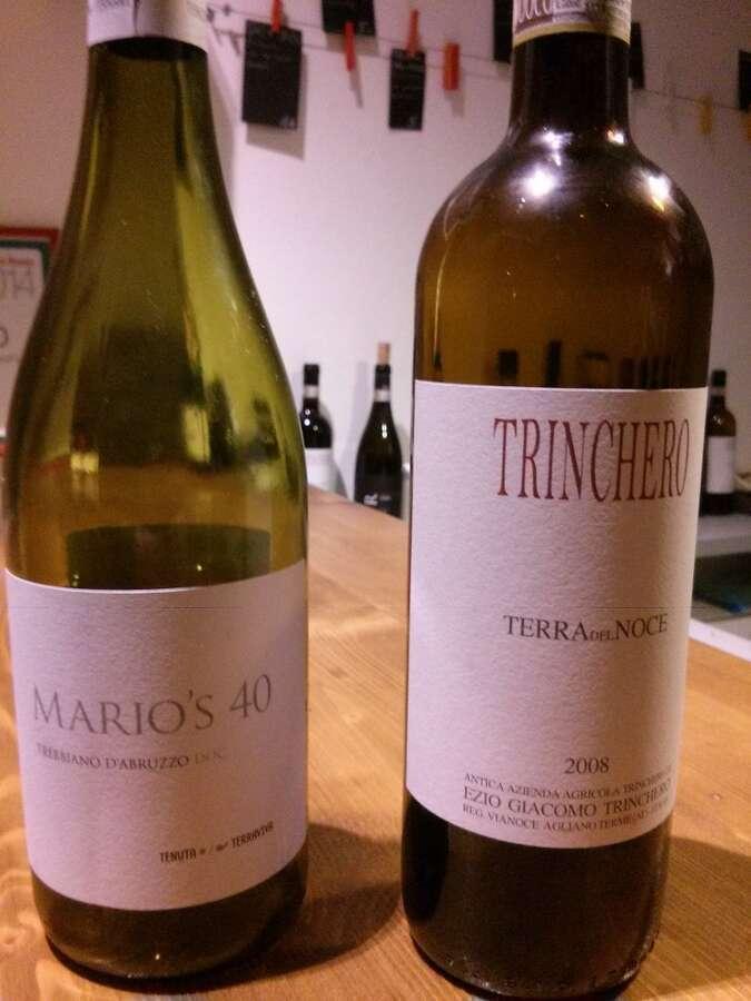 Trebbiano Abruzzo Mario's40 e Barbera Asti Trinchero