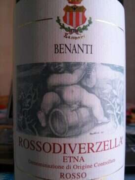 Etna Rosso Rosso Di Verzella 2012 Benanti