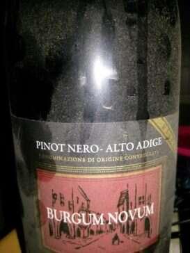 Pinot Nero Burgum Novum Castelfeder 2007 Riserva
