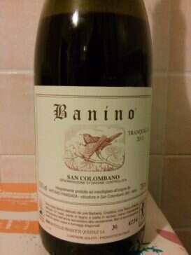 San Colombano Rosso Tranquillo 2011 Banino