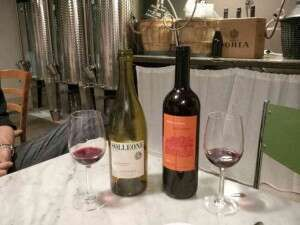I vini degustati all enoteca Vinello in Gambara a Milano