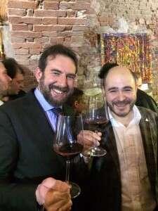 Il Presidente Fiamberti e il Direttore Colombi brindano al Buttafuoco Storico