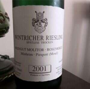 Wintricher Riesling Spätlese Trocken 2001 di Weingut Molitor