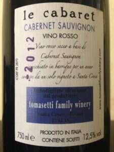 Le Cabaret Cabernet Sauvignon - Etichetta retro