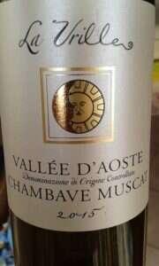 La Vrille - Chambave Muscat 2015