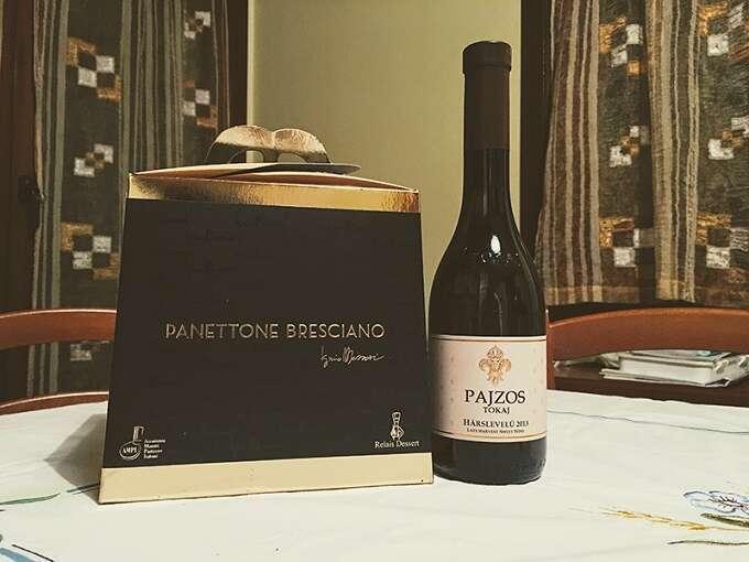 Qual'è il Vino giusto per il Dolce? Abbinamento Vino con Dolce - Assaggiamo il Tokaji Pajzos con il Panettone Iginio Massari