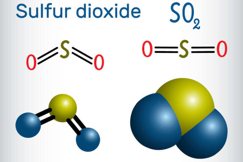 Molecola di anidride solforosa - Solfiti nel Vino