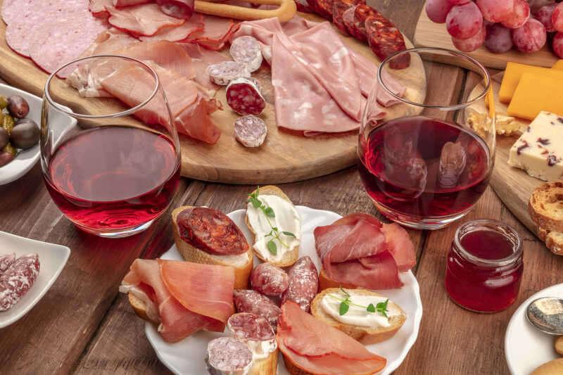 Abbinamento Cibo Vino - Salumi Gourmet