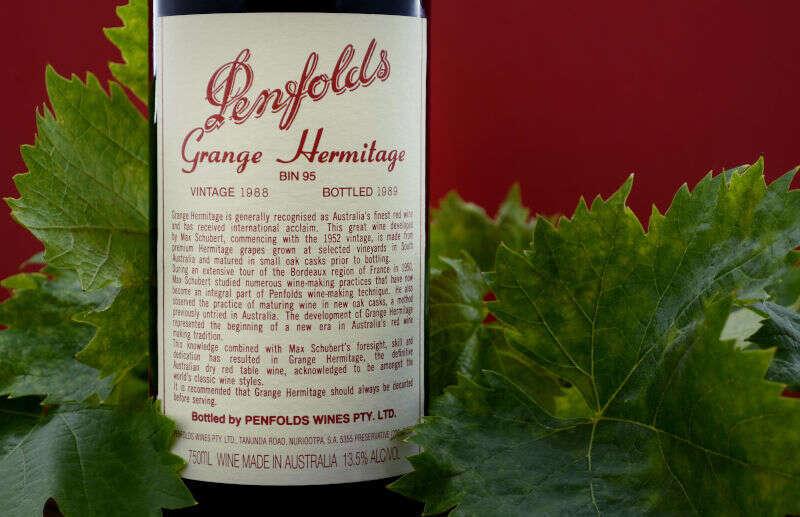 Penfolds Grange Hermitage, Bin 95, annata 1988 imbottigliato 1989 nella Barossa Valley