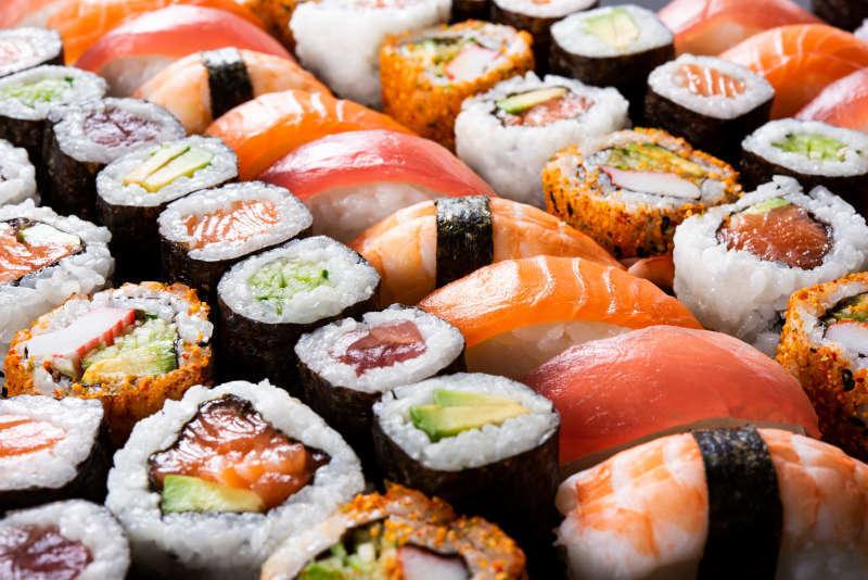 Alcune tipologie di Sushi