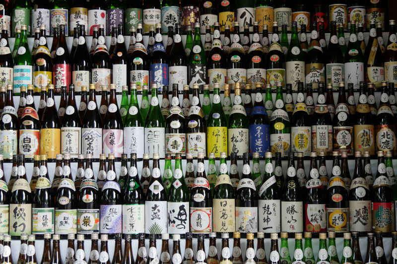 Bottiglie di sake giapponesi