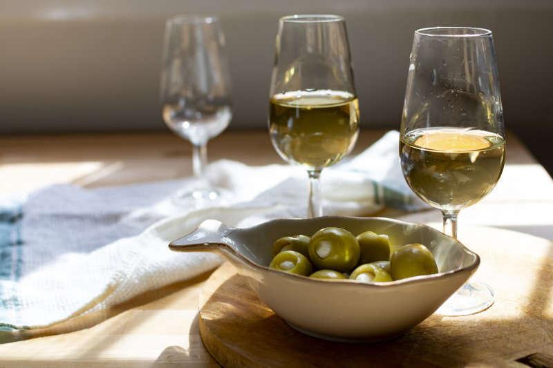 Abbinamento Sherry con Olive ripiene