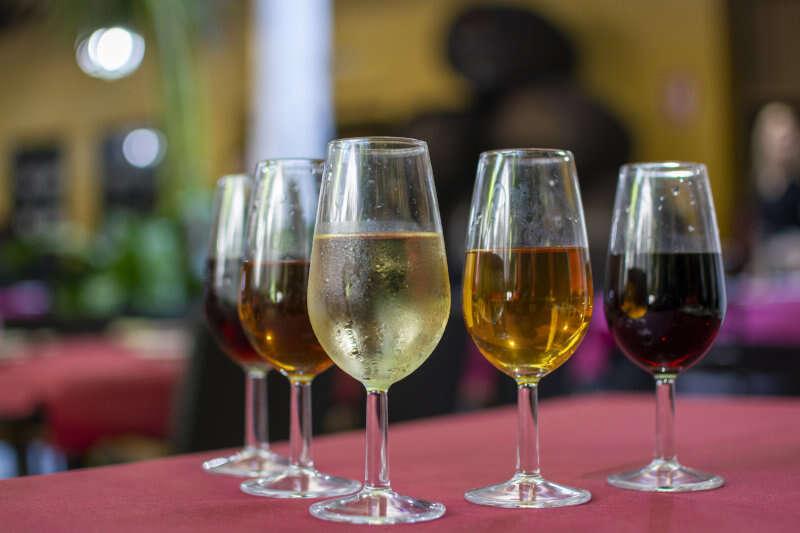 Degustazione di vino Sherry con selezione di diverse tipologie