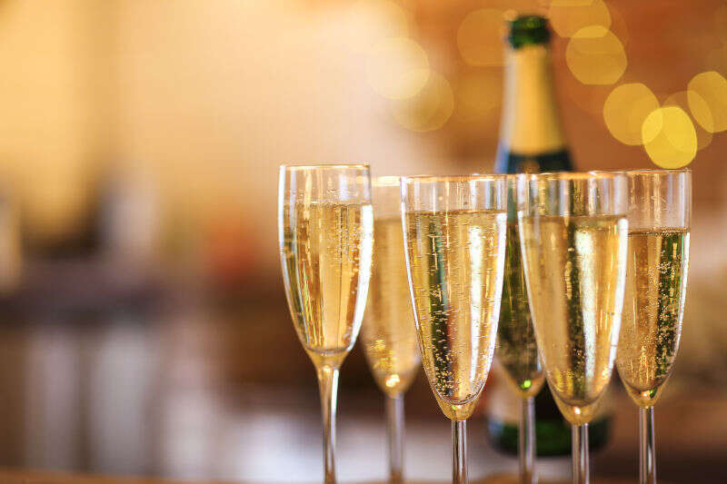 Calici di Champagne per Natale