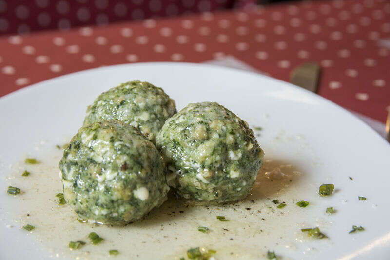 Canederli con spinaci e formaggio