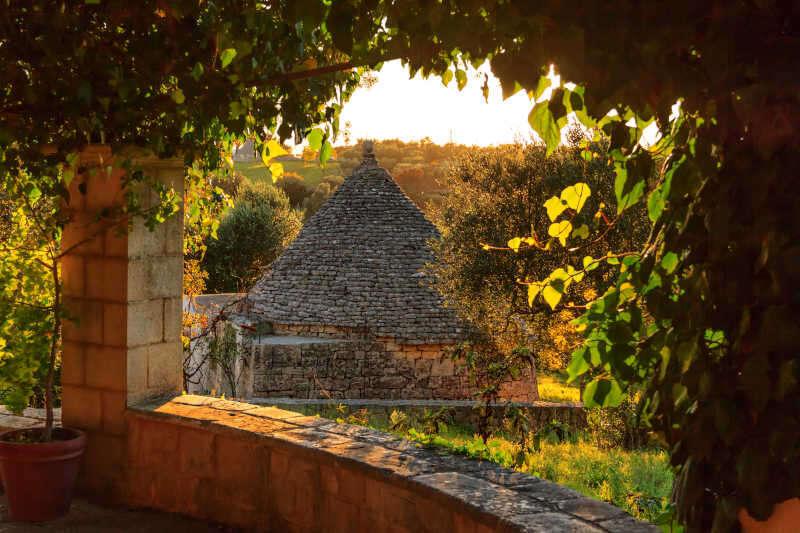 Paesaggio tipico in Valle d'Itria
